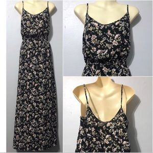 Forever 21 floral maxi dress women's L